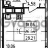 Продается квартира 1-ком 28.21 м² Петровский бульвар 3, метро Девяткино