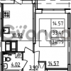 Продается квартира 1-ком 34.79 м² Петровский бульвар 3, метро Девяткино