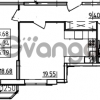 Продается квартира 1-ком 55.79 м² Петровский бульвар 3, метро Девяткино