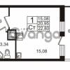 Продается квартира 1-ком 20.95 м² Немецкая улица 1, метро Улица Дыбенко