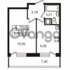 Продается квартира 1-ком 30.7 м² Немецкая улица 1, метро Улица Дыбенко