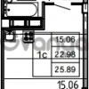 Продается квартира 1-ком 25.89 м² Петровский бульвар 3, метро Девяткино