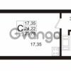 Продается квартира 1-ком 24.22 м² Европейский проспект 1, метро Улица Дыбенко