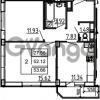 Продается квартира 2-ком 53.66 м² Петровский бульвар 3, метро Девяткино