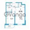 Продается квартира 1-ком 40.86 м² Петровский бульвар 3, метро Девяткино
