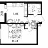 Продается квартира 1-ком 31.77 м² проспект Энергетиков 9, метро Ладожская