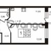 Продается квартира 1-ком 34.29 м² Центральная улица 7к 1, метро Проспект Просвещения