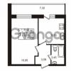 Продается квартира 1-ком 32.13 м² Советский проспект 42, метро Рыбацкое
