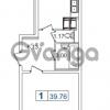 Продается квартира 1-ком 39.76 м² Пулковское шоссе 40к 2, метро Звездная