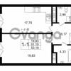 Продается квартира 1-ком 51.11 м² улица Малая Зеленина 1, метро Чкаловская