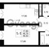 Продается квартира 1-ком 46.79 м² улица Малая Зеленина 1, метро Чкаловская