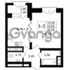 Продается квартира 1-ком 33.65 м² улица Малая Зеленина 1, метро Чкаловская