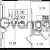 Продается квартира 1-ком 27.8 м² Бестужевская улица 5к 1, метро Лесная