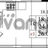Продается квартира 1-ком 24.8 м² Бестужевская улица 5к 1, метро Лесная