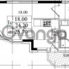 Продается квартира 1-ком 24.2 м² Бестужевская улица 5к 1, метро Лесная