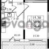 Продается квартира 1-ком 30.9 м² Бестужевская улица 5к 1, метро Лесная