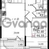 Продается квартира 1-ком 42.4 м² Бестужевская улица 5к 1, метро Лесная