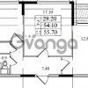 Продается квартира 2-ком 54.1 м² Бестужевская улица 5к 1, метро Лесная