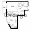 Продается квартира 1-ком 34.83 м² Европейский проспект 14, метро Улица Дыбенко