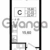 Продается квартира 1-ком 21.22 м² Европейский проспект 14, метро Улица Дыбенко