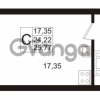 Продается квартира 1-ком 25.77 м² Европейский проспект 1, метро Улица Дыбенко