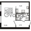 Продается квартира 1-ком 27.31 м² Бестужевская улица 5к 1, метро Лесная