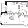 Продается квартира 1-ком 38.01 м² Бестужевская улица 5к 1, метро Лесная