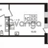Продается квартира 1-ком 26.31 м² Бестужевская улица 5к 1, метро Лесная