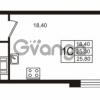 Продается квартира 1-ком 25.31 м² Бестужевская улица 5к 1, метро Лесная