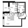 Продается квартира 1-ком 25.51 м² Бестужевская улица 5к 1, метро Лесная