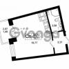 Продается квартира 1-ком 28.21 м² Оборонная улица 26, метро Девяткино