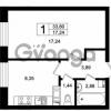 Продается квартира 1-ком 33.8 м² Оборонная улица 26, метро Девяткино