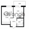 Продается квартира 1-ком 29.87 м² улица Шувалова 1, метро Девяткино