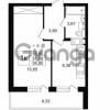 Продается квартира 1-ком 31.59 м² улица Шувалова 1, метро Девяткино