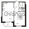 Продается квартира 1-ком 42.41 м² Бестужевская улица 5к 1, метро Лесная