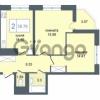 Продается квартира 2-ком 58.76 м² Дунайский проспект 7, метро Звёздная