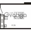 Продается квартира 1-ком 23.6 м² проспект Строителей 1, метро Улица Дыбенко