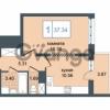 Продается квартира 1-ком 37.34 м² Дунайский проспект 7, метро Звёздная