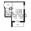 Продается квартира 1-ком 24.35 м² Немецкая улица 1, метро Улица Дыбенко