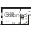 Продается квартира 1-ком 26.34 м² Немецкая улица 1, метро Улица Дыбенко