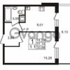 Продается квартира 1-ком 31.14 м² Немецкая улица 1, метро Улица Дыбенко