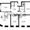 Продается квартира 4-ком 124.86 м² Новгородская улица 17, метро Чернышевская
