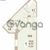 Продается квартира 1-ком 40.3 м² Областная улица 1, метро Улица Дыбенко