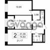 Продается квартира 2-ком 74.84 м² Новгородская улица 17, метро Чернышевская