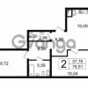 Продается квартира 2-ком 79.41 м² Новгородская улица 17, метро Чернышевская