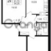 Продается квартира 2-ком 51.73 м² улица Шувалова 1, метро Девяткино