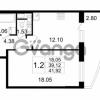 Продается квартира 1-ком 39.12 м² улица Катерников 1, метро Проспект Ветеранов