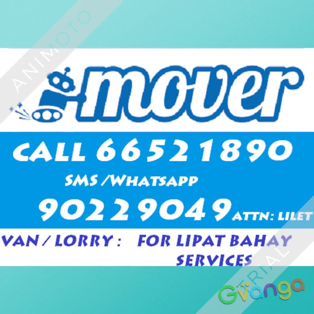 Van / lorry for house moving in singapore